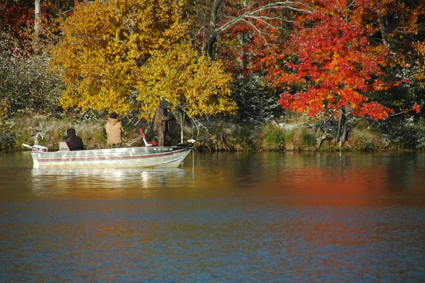 Fishing in Clam Lake, WI