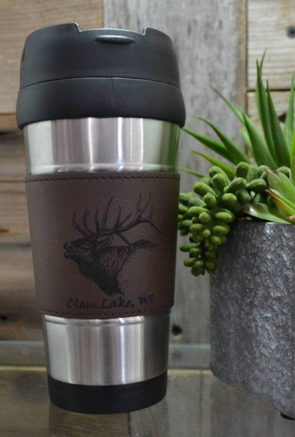Brown Elk tavel Mug