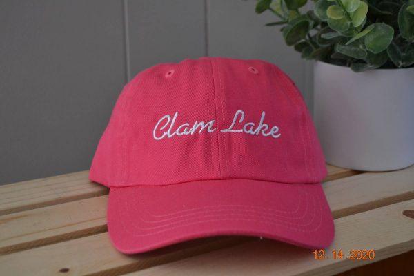 pink Cllam lake hat
