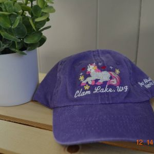 Purple Unicorn Clam Lake Hat