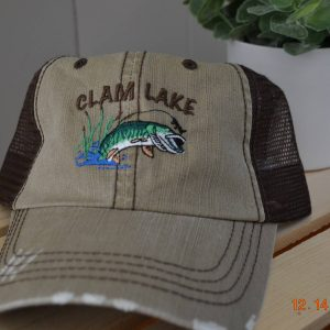 Tan Muskie Clam Lake Hat