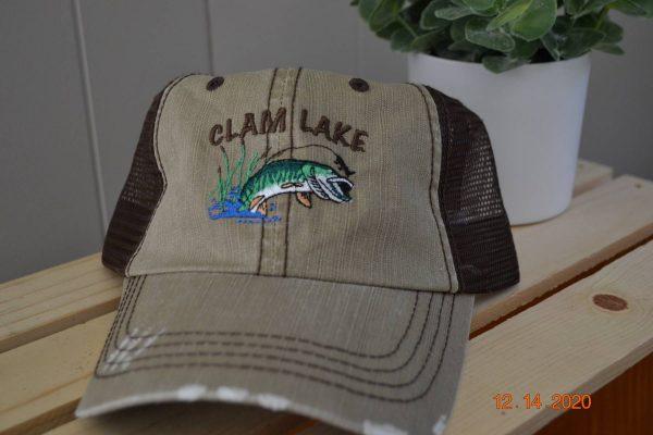 Tan Muskie Clam Lake Hat