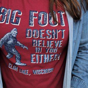 Red Big Foot shirt