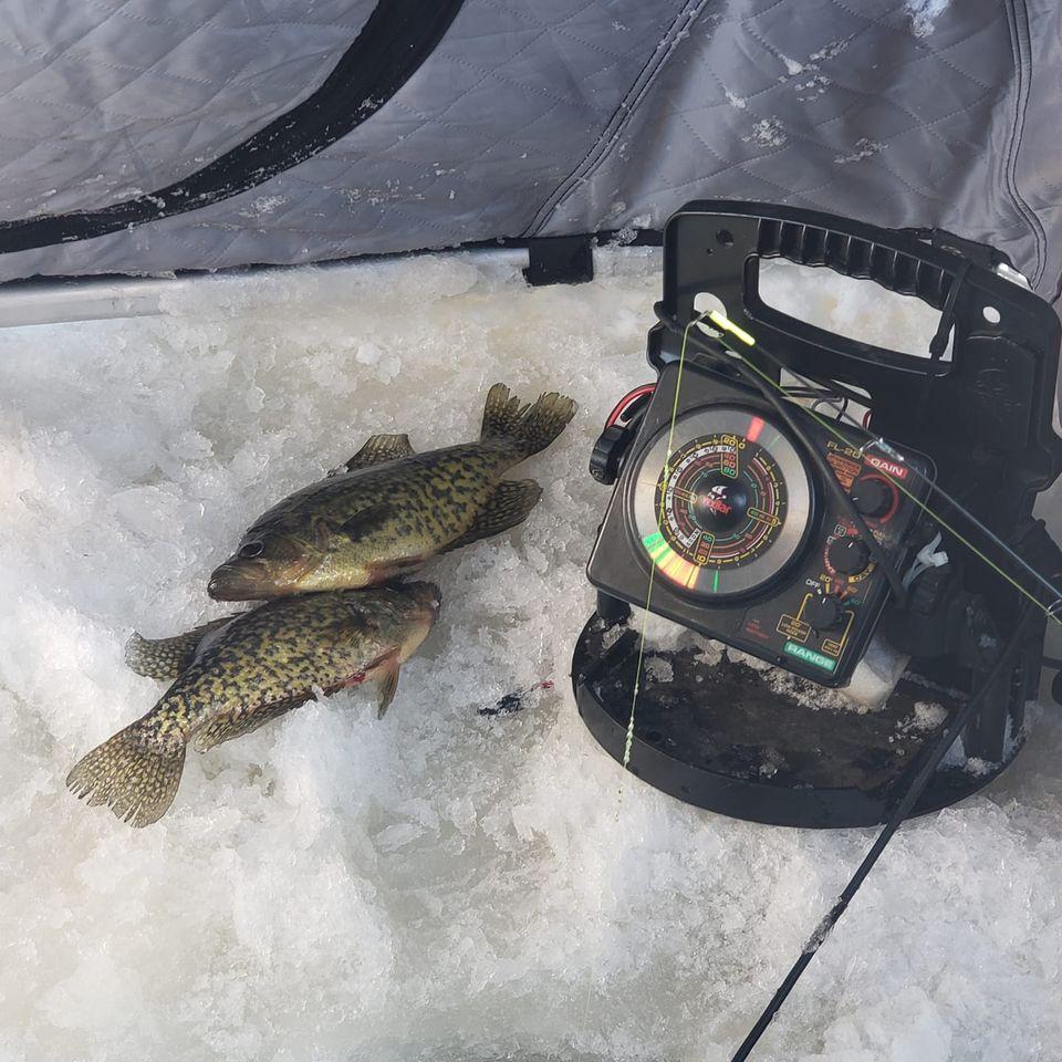 clam lake wi ice fishing